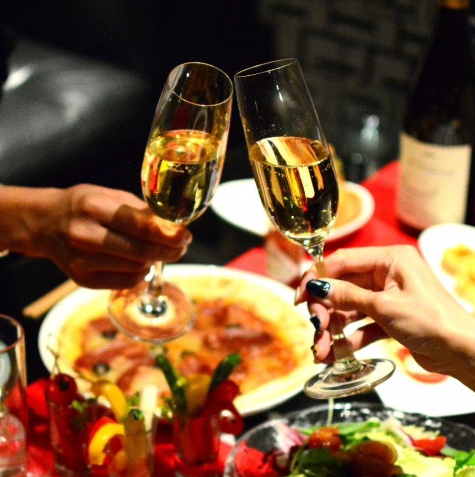 Cheers with sparkling ♪ Premium course 3500 yen (3H drinking)
