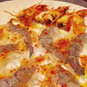 Angel's shrimp carpaccio