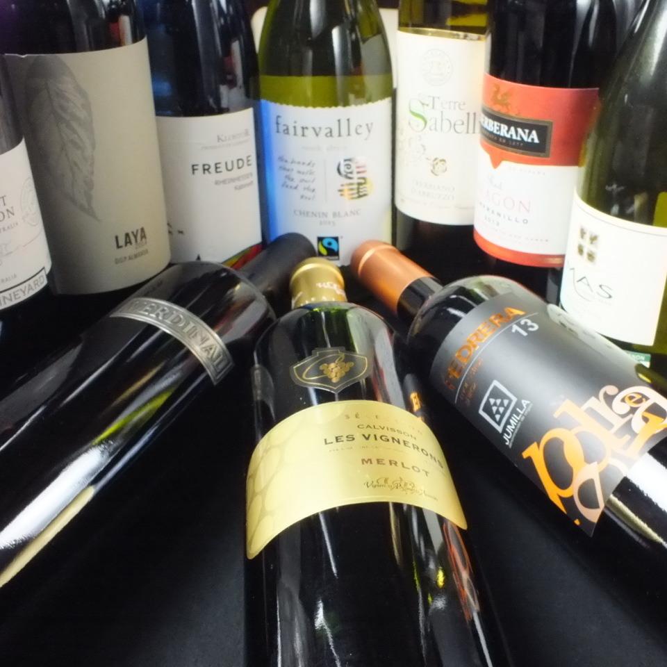 Wine 40 types! Grass 500 yen ~