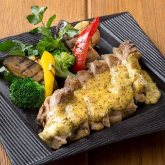 Young chicken and vegetable mustard GRILL