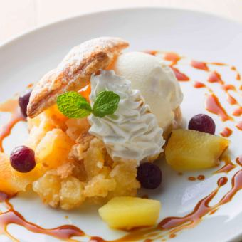 Apples Caramel Pie with Mascarpone's Gelato