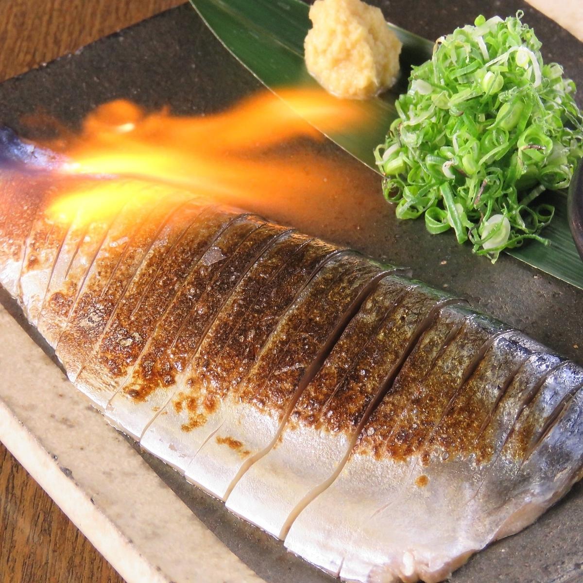 Domestic! Broiled shrimp mackerel / bonito of bonito / chicken smoked Tataki