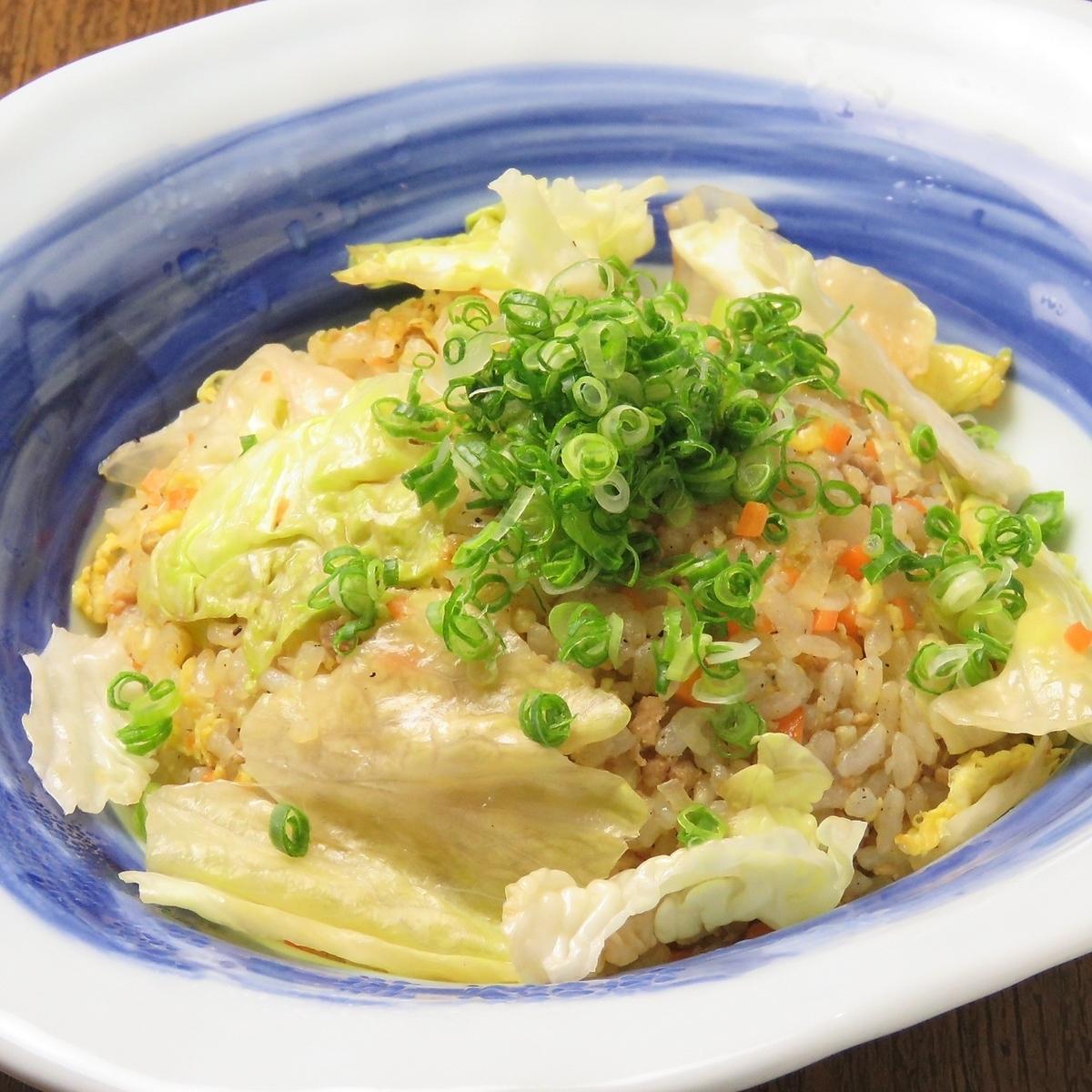 Lettuce fried rice