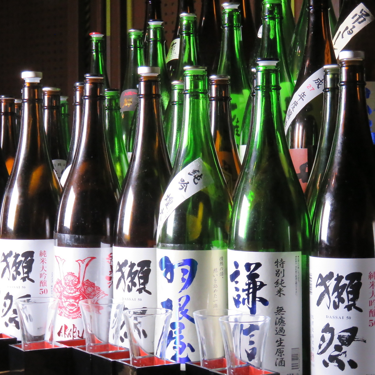You can enjoy 100 local sake nationwide all you can drink.