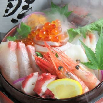 """Maximum of 150 minutes Including all-you-can-drink! """"Ikura and sashimi 4 species · book tuna etc."""" 【Fish】 Proficient course (8 items) 4500 yen"""