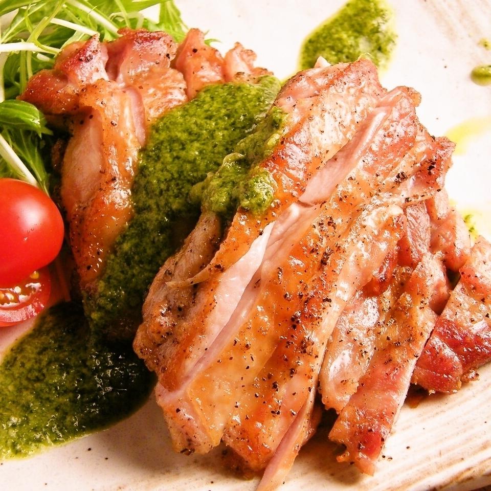 Yamabara young chicken basil calico grass