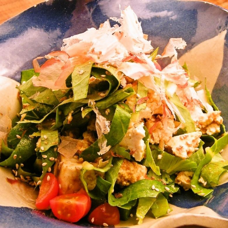 Nja Do the island tofu salad (Miyako Island dressing)