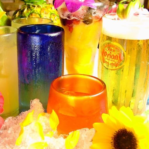 2.5 hours single item drink as much as you want → 2000 yen