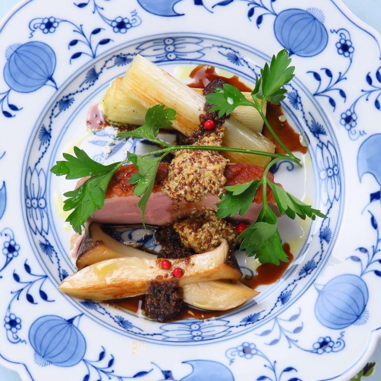 鴨のロースト バルサミコソース