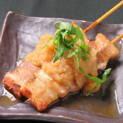 豚バラ梅しそ串/豚バラチーズ/豚バラおろしポン酢