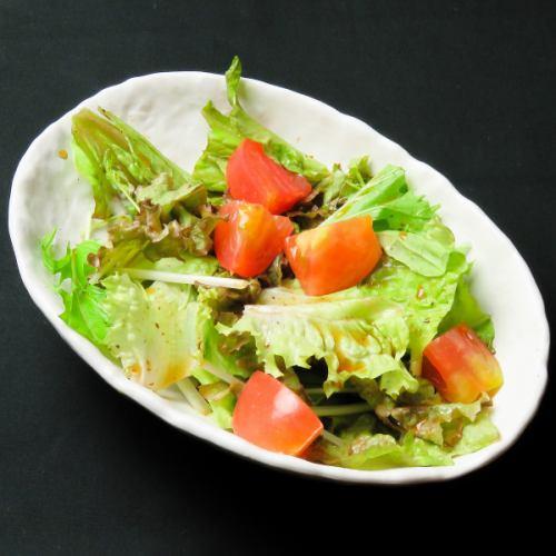 5種から選べるサラダ (ごま・青じそ・わさび・シーザー・黒コショウ)