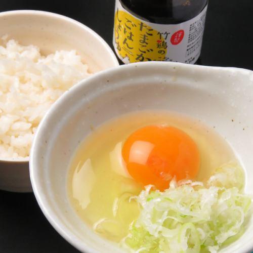 竹鶏玉子のTKG(たまごかけご飯)