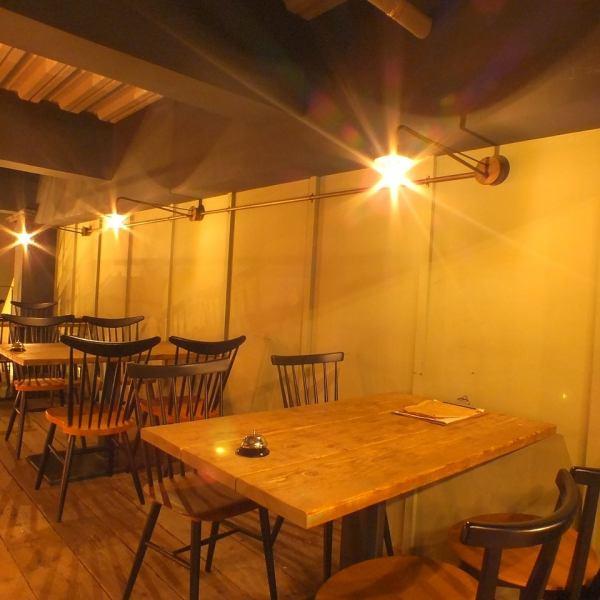 【2F:阁楼】桌座◆可预约15人供私人使用。放松天花板的高空间与其他座位的谈话无关。午餐和晚餐可以放松,非常适合休闲约会。
