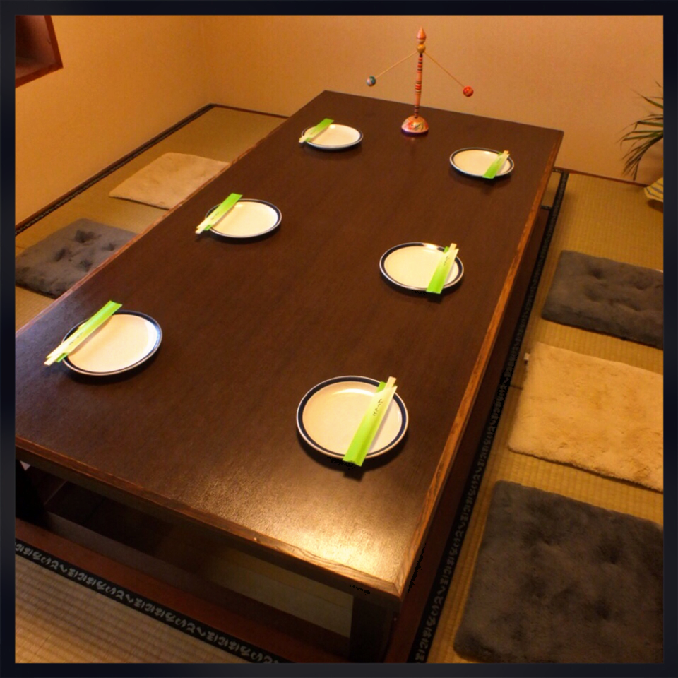 We are preparing a complete private room of digging digging ♪ digging tatami & the seat of Oshiki is sure to relax slowly ★