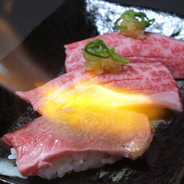 【国産和牛使用!】話題の『国産和牛炙り肉寿司』