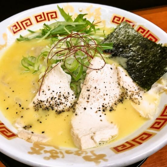 宮崎じとっこ100%使用した秘伝の鶏白湯スープのらーめんが楽しめる宮崎の人気ラーメン