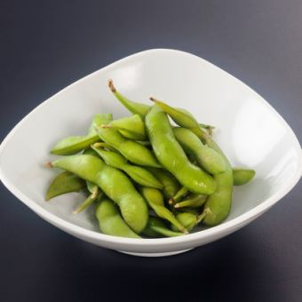 Let's eat edamame beans for the time being