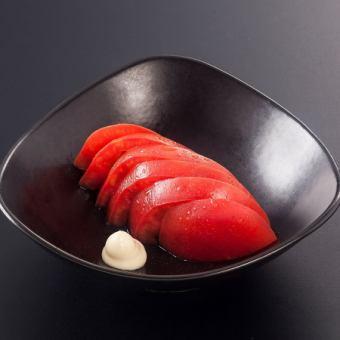切られたトマト