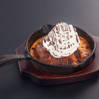 Chocolate pancake a la mode