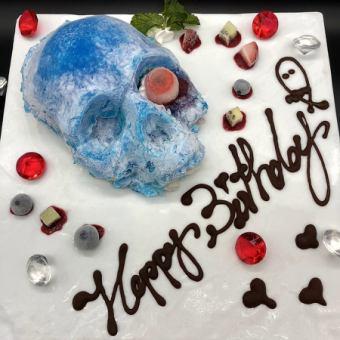 单个项目蛋糕4★惊讶和美味★冷冻骷髅蛋糕♪♪