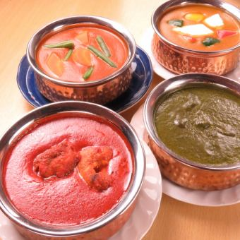【LUNCH】 authentic Indian curry · Indian cuisine can be enjoyed! 8 kinds to choose ♪ 790 yen ~ We are preparing ♪
