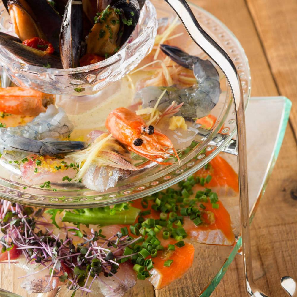 ●日替わり魚介のクルード~frenchinaプレート~