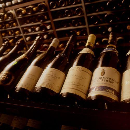 ワインを豊富にご用意