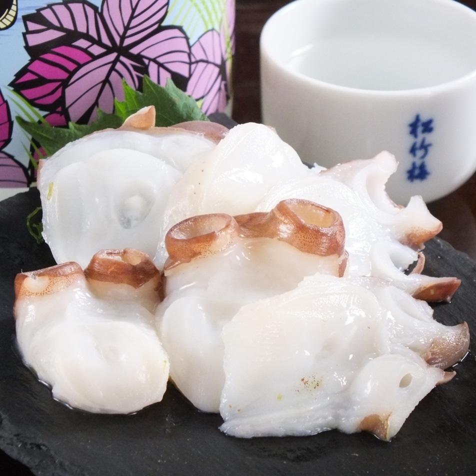 Octopus sashimi from Hokkaido