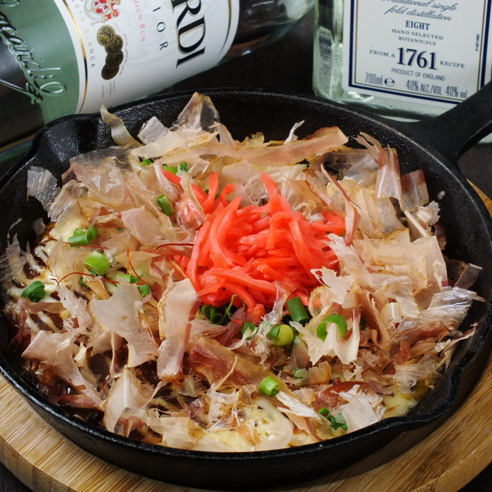 Hot / fluffy roasted iron plate Okonomiyaki