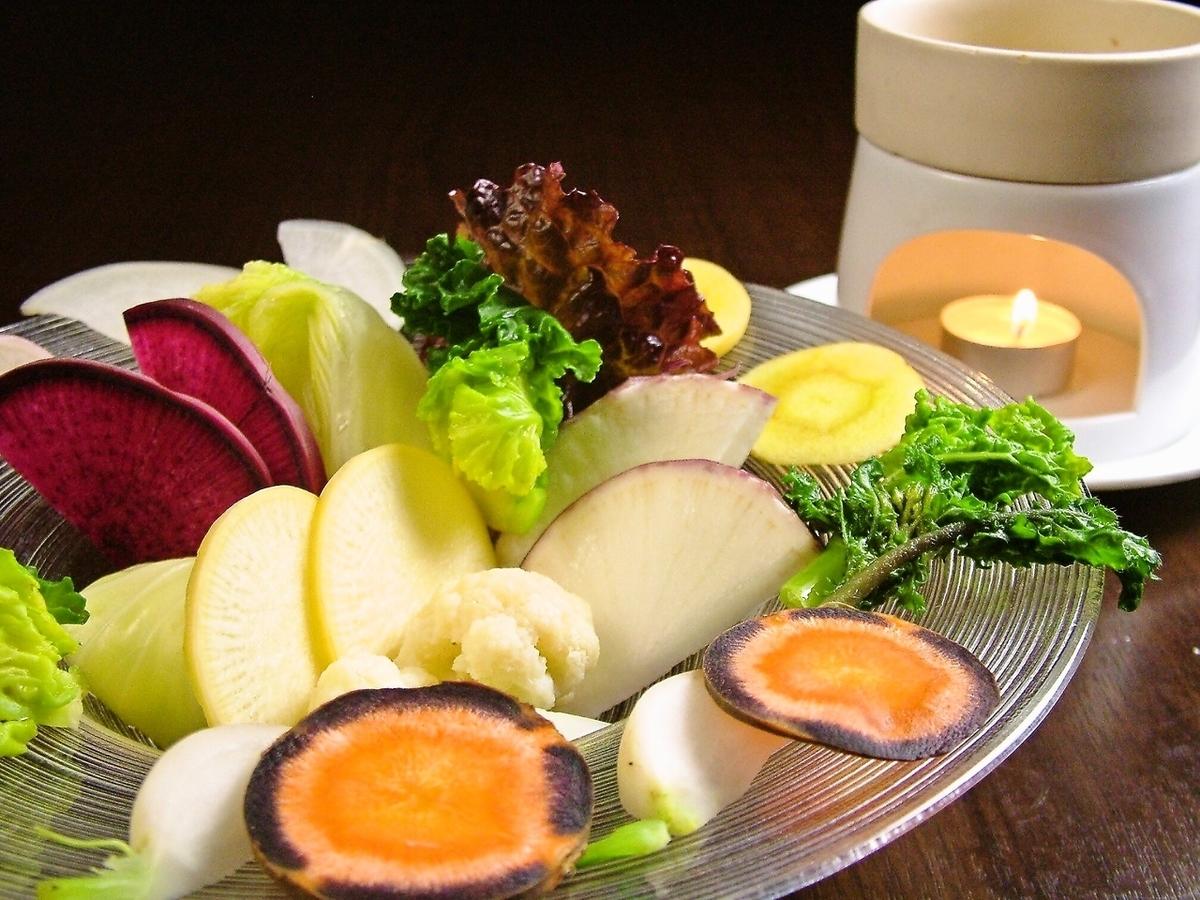 地球賞金感有機蔬菜Bagna cauda所有你可以吃!