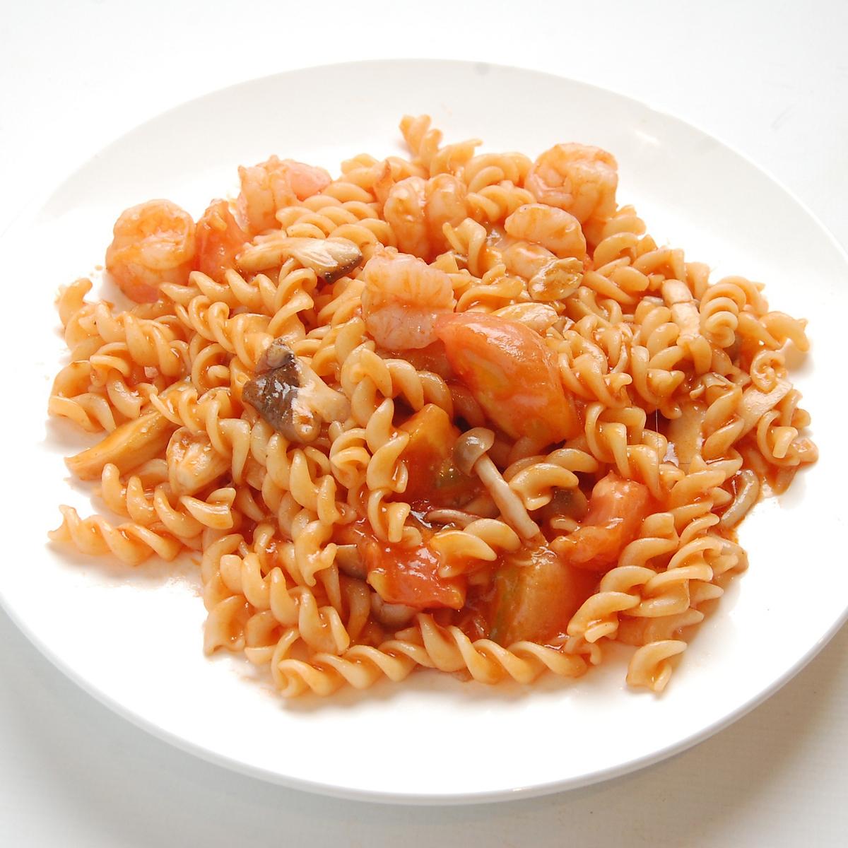 토마토 새우 구이 이탈리아 국수