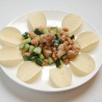 黄瓜と鶏肉炒め