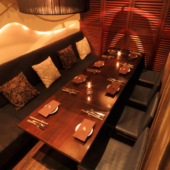 Pao style curtain private room 【Maximum 16 people】