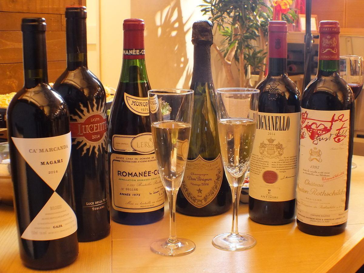 Boasting a rich menu! Wine that fits Korean food and · Champagne ♪