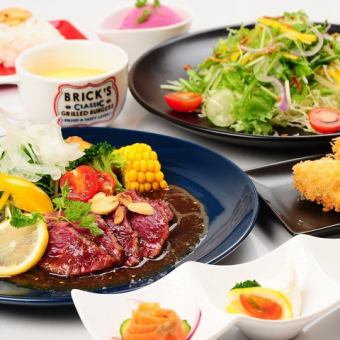 «Easy course» Appetizer / red steak / fried food / dessert ... etc ★ 2500 yen