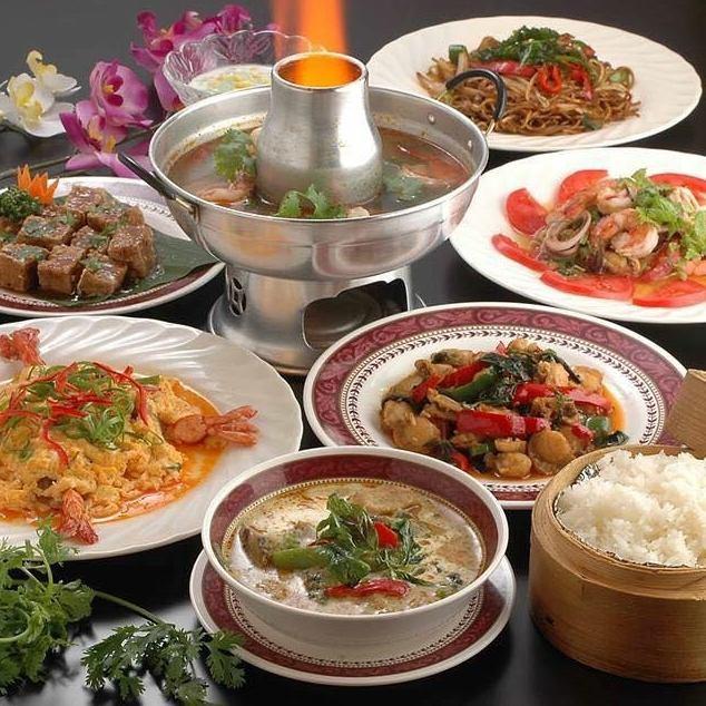 本格タイ料理を満喫♪★宴会、夜カフェ、ランチにも