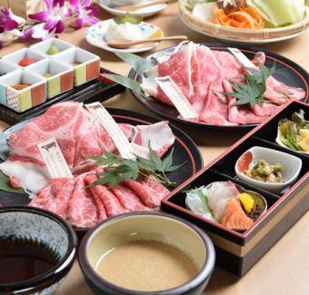 牛肉涮锅套餐[所有8个菜]6000日元(不含税)