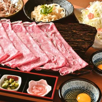 Enjoy Miyazaki bee's extravagant sukiyaki ... Silver Suki course [9 items in all] 10000 yen (excluding tax)