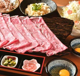 미야자키 소 삼매의 호화스러운 스키야키를 즐길 ... 실버 쟁기 코스 [총 9 종] 10000 엔 (세금 별도)