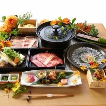 【Silver Sakura's sting】 Shabu-shabu kaiseki 10000 yen (tax not included) ~ We will receive.