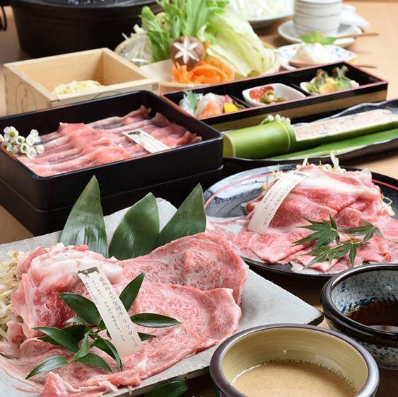 樱花涮锅课程<共8项> A5等级宫崎牛肉核酮糖等... 7000日元(不含税)