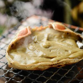 Crab miso shellfish