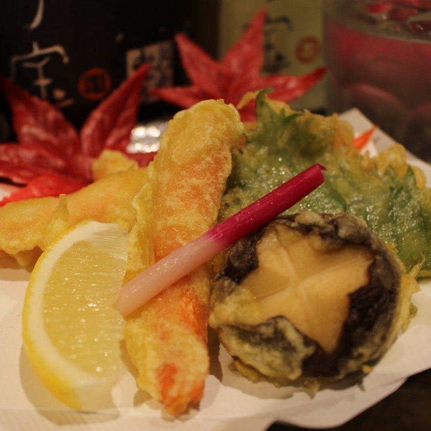 Tempura of crumoless crab