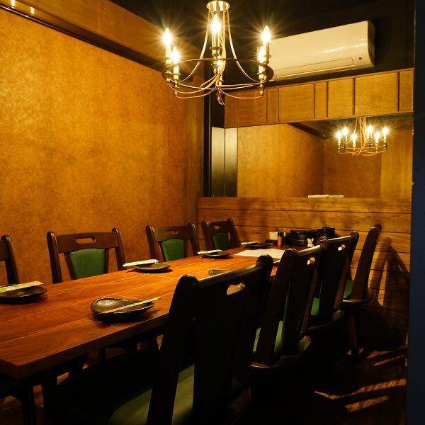 テーブル個室も完備!周りを気にせずゆったりとしたお時間をお過ごしください。