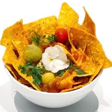 Mexican avocado & cheese nachos