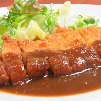 Pork cutlet demiglace sauce (rice set)