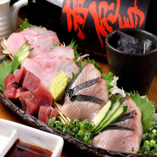 【三浦半島のお刺身盛り合わせ】リクエストで桶盛りもできます!お祝いなどにもどうぞ!