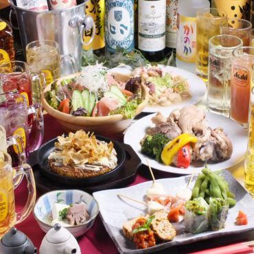打ち上げ、宴会、女子会【☆らんまコース☆】飲み放題付きコース!前日までのご予約です!お急ぎください!