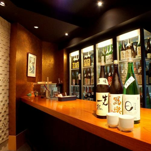 Sake Sumimi counter opened