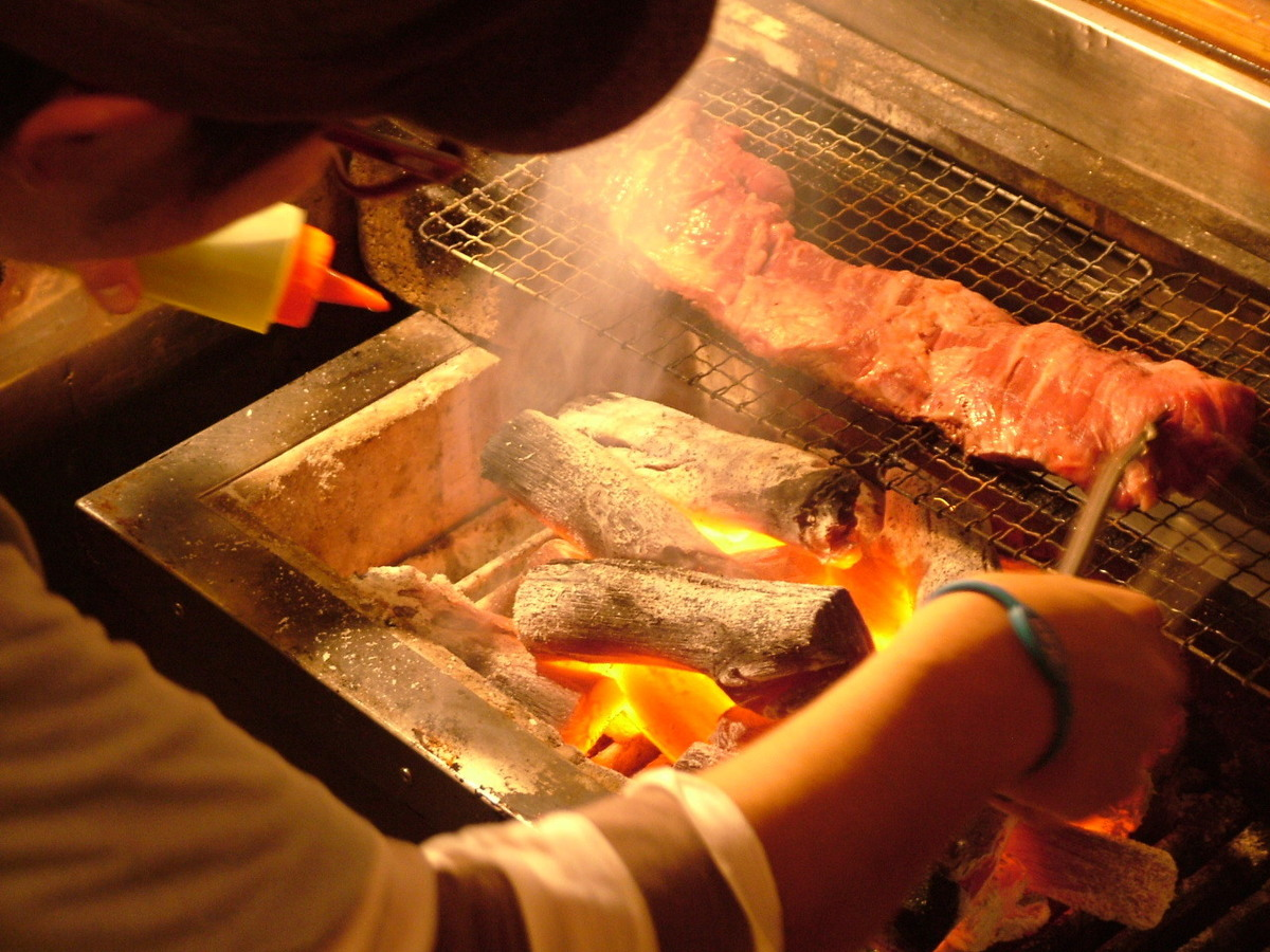 Grilled Charcoal Grill of Beef Harami